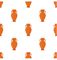 ancient pottery seamless pattern vase amphora vector image