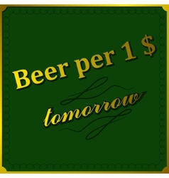 Background beer per dollar vector