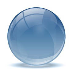 Blue abstract 3d icon ball vector image