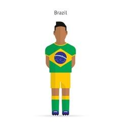 Brazil football player Soccer uniform vector image vector image