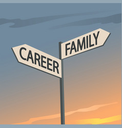 Career or family indication sign vector