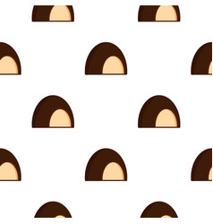 Chocolate souffle pattern seamless vector