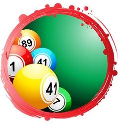 Circular border with bingo balls vector