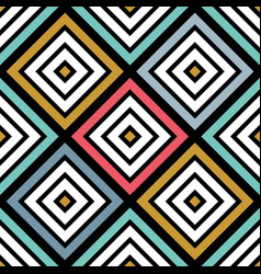 colorful abstract seamless pattern geometric vector image