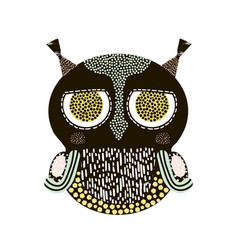 decorative owl bird isolated on white it can be vector image vector image
