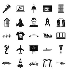 Draft icons set simple style vector