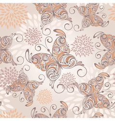 drawn butterfly pattern vector image vector image