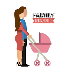 family people vector image