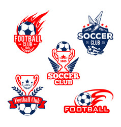 Football sport club soccer game competition badge vector
