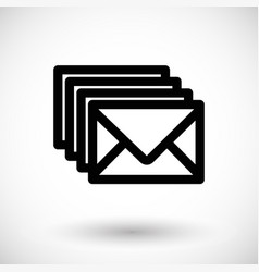 four envelopes flat icon vector image vector image