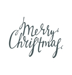 Handwrite calligraphic inscription merry christmas vector