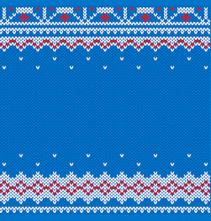 Knitted and new year traditional background vector