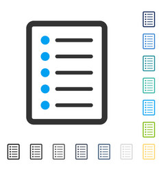List page icon vector