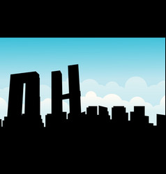 mexico city skyline scenery silhouettes vector image vector image