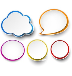 Paper set of color speech bubbles vector image vector image
