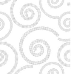 pattern from spirals vector image