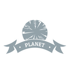 planet astronomy logo simple gray style vector image