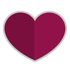 purple heart icon vector image