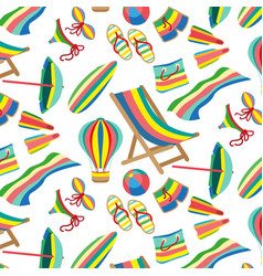 Seamless beach and sea pattern vector