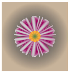 Semi-realistic flower background vector