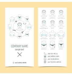 Set of flyer brochure for plastic surgery with vector image vector image