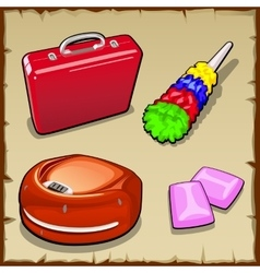 Set of four items for the household and gum vector