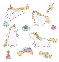 Set of unicorn set of unicorn vector