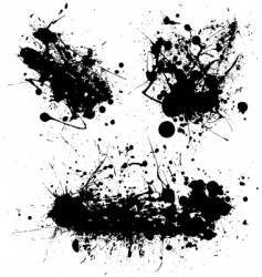 splat black trio vector image
