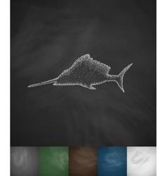 Swordfish icon vector