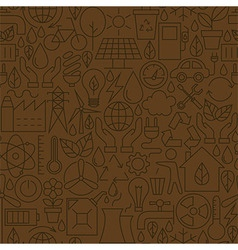 Thin ecology environment line seamless brown vector