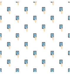 translator on phone pattern vector image