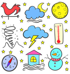 Weather item stock of doodles vector