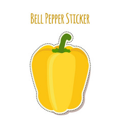 yellow bell pepper sticker made in flat style vector image