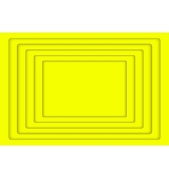 Yellow concentric 5 rectangle background vector