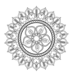 Intricate mandala icon vector