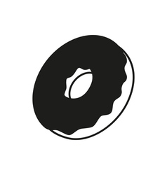 Donut icon isolated vector