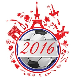 France symbol with flag and soccer ball vector
