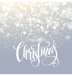 Christmas lettering on snowflake sparkle vector