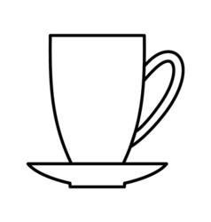 Coffee outline digital icon vector image