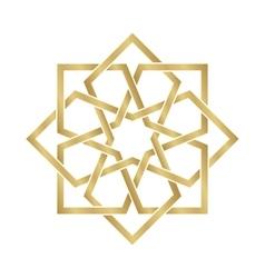 Gold arabesque ornament vector