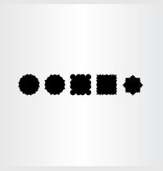 Black frames labed design elements vector