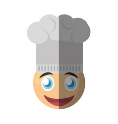 chef emoticon cartoon design vector image