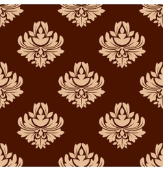Brown floral seamless pattern vector image