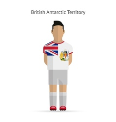 British antarctic territory football player soccer vector