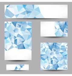 Templates with abstract geometrical triangles vector