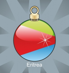 Eritrea flag on bulb vector