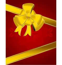 Christmas bow decoration vector