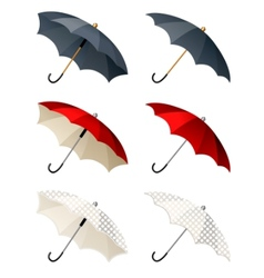 different umbrellas isolated vector image
