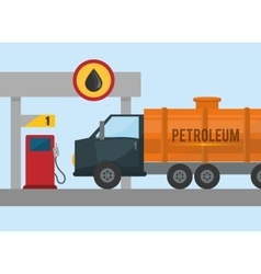 Petroleum price design vector