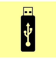 Usb flash drive sign vector